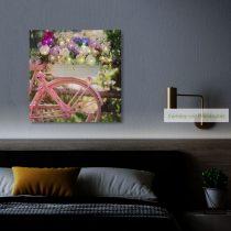 "LED-es fali hangulatkép - ""Bicikli"", 30 x 30 cm"