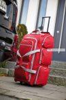 Gurulós utazó táska, sok zsebbel