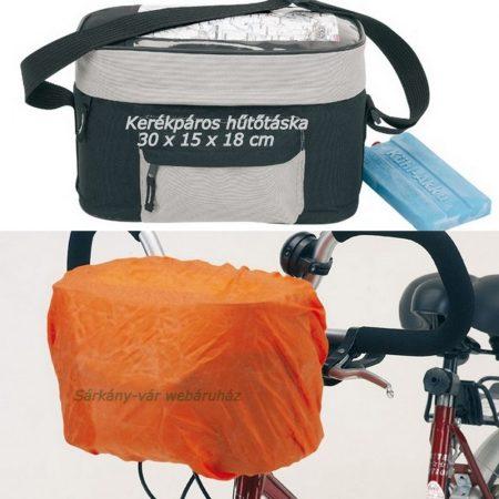 Hűtőtáska kerékpárkormányra erősíthető