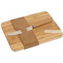 Vágódeszka bambusz, késsel