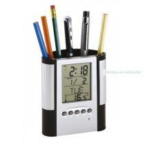 LCD-kijelzős ébresztőóra beépített tolltartóval