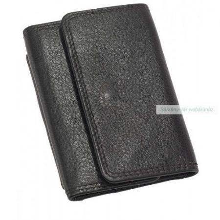 Valódi bőr pénztárca, 9,8 x 6,7 x 1,7 cm