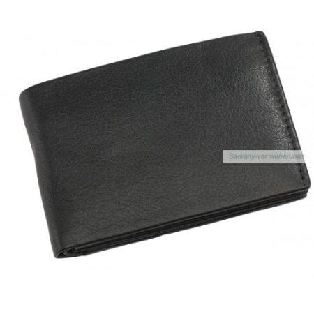HOLIDAY valódi bőr pénztárca, fekete