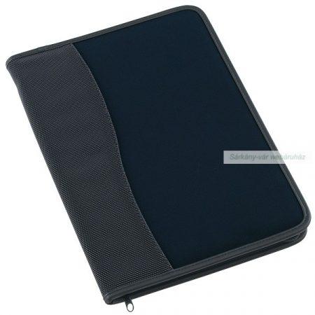 A4 mappa zipzárral, fekete-kék