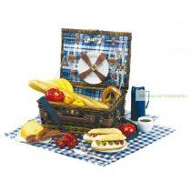 Piknik kosár, vállpánttal, 2 személyes