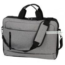 Divatos laptop táska, szürke, fekete