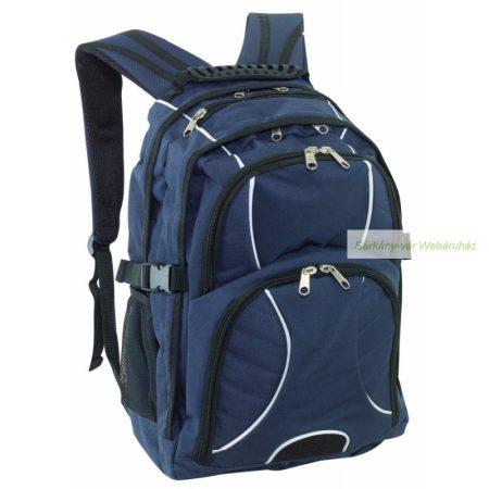 Laptop tárolós hátizsák 2 darab cipzáras zsebbel az elején