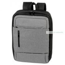 Divatos hátizsák, szürke, fekete