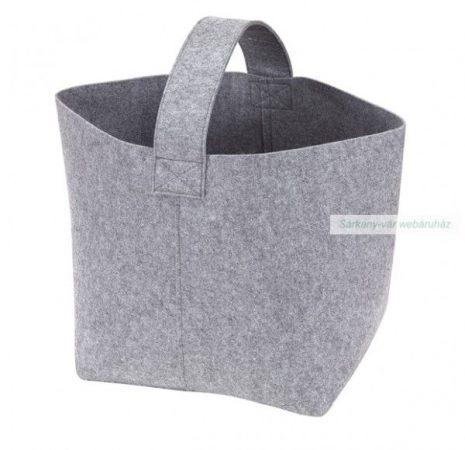 Tűzifa vagy újság tároló táska filcből