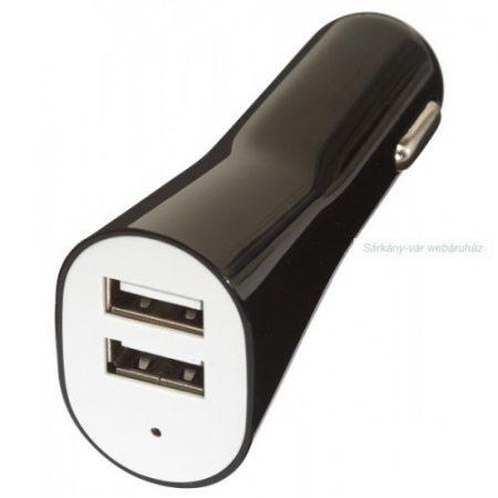 USB töltő gépkocsikhoz, 2 db port