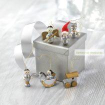 Fa karácsonyfadísz, 6 db