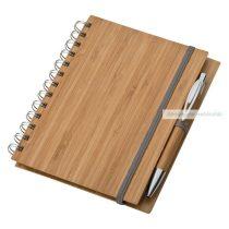 A5 bambusz borítós jegyzet, tollal