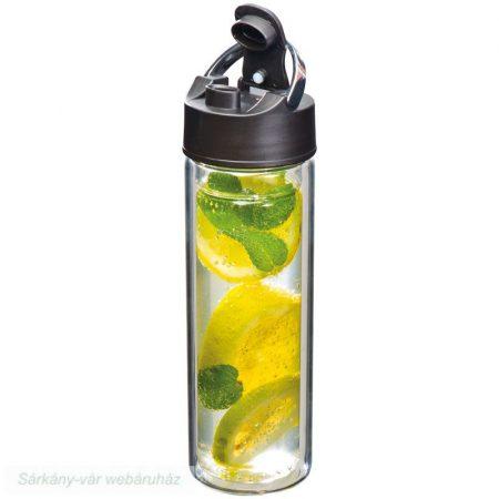 Szűrős üveg palack 600 ml