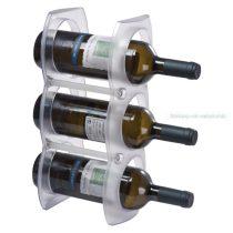 3 részes műanyag bor tartó