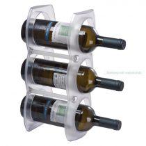 3 részes műanyag bortartó