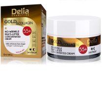 DELIA GOLD & COLLAGEN ránctalanító krém 55+, 50 ml