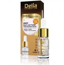 DELIA GOLD & COLLAGEN élénkítő arcszérum a ráncok ellen, 10 ml