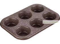 Muffin sütőforma, 6 db-os
