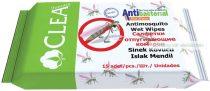 Szúnyogriasztós antibakteriális törlőkendő, 15 db